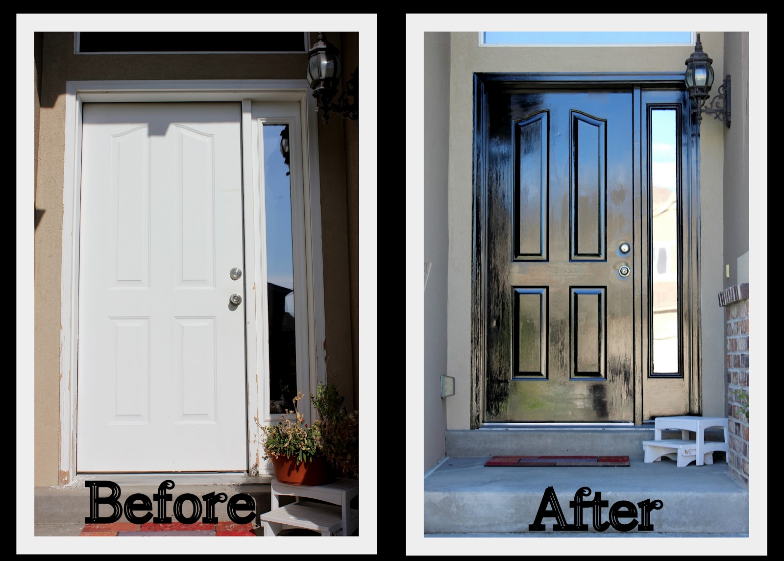 Keeping up with the kitchen mom how to paint the front door for Exterior door paint