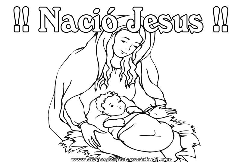 Nacimiento de jesus para colorear new calendar template site - Dibujos de nacimientos de navidad ...