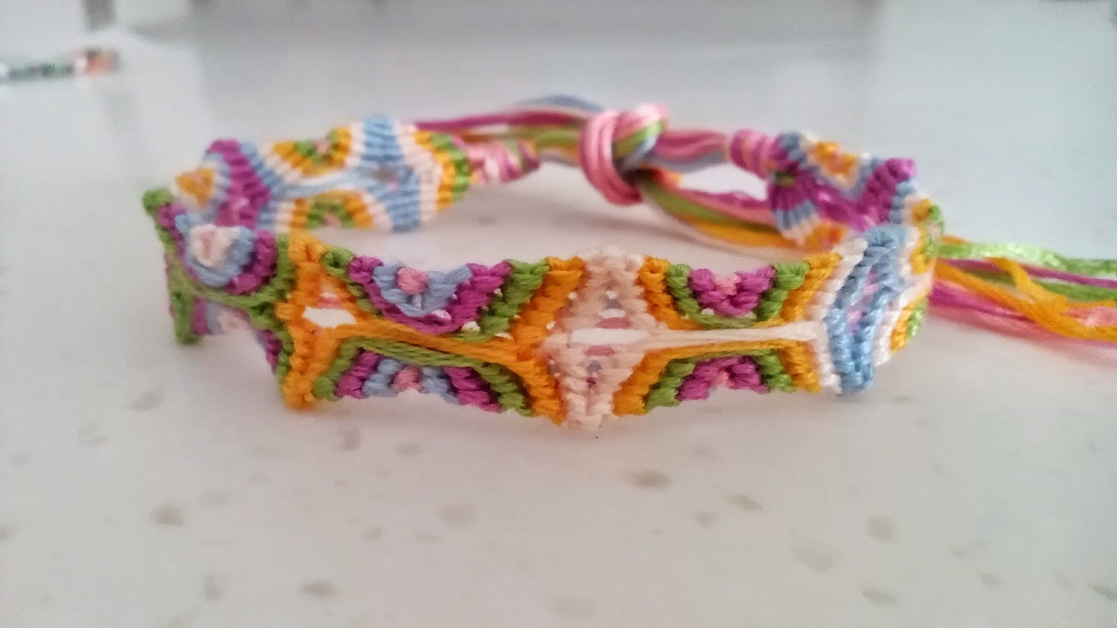 Colourful Totem Pole Friendship Bracelet