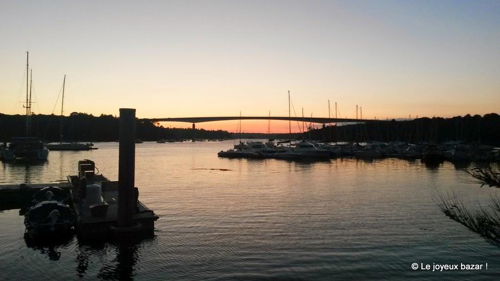 Pont de Cornouaille - coucher de soleil