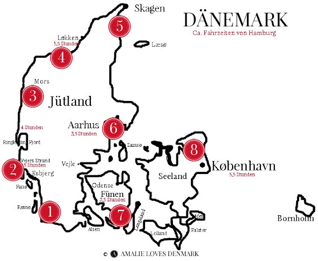 Amalie loves Denmark Rundreise durch Dänemark