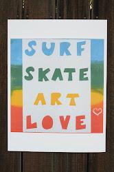 Surf Skate Poster