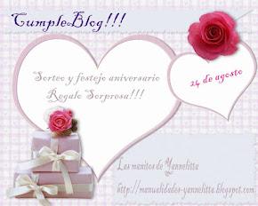 Sorteo y cumple-blog de Yanelita