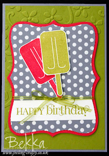 Mouthwatering Ice Lolly Card by Bekka www.feeling-crafty.co.uk
