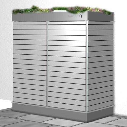 garten q moderne gartenh user gartenschr nke m llboxen und unterst nde der moderne. Black Bedroom Furniture Sets. Home Design Ideas