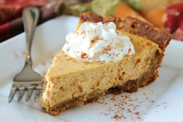low-fructose pumpkin cheesecake made with dextrose