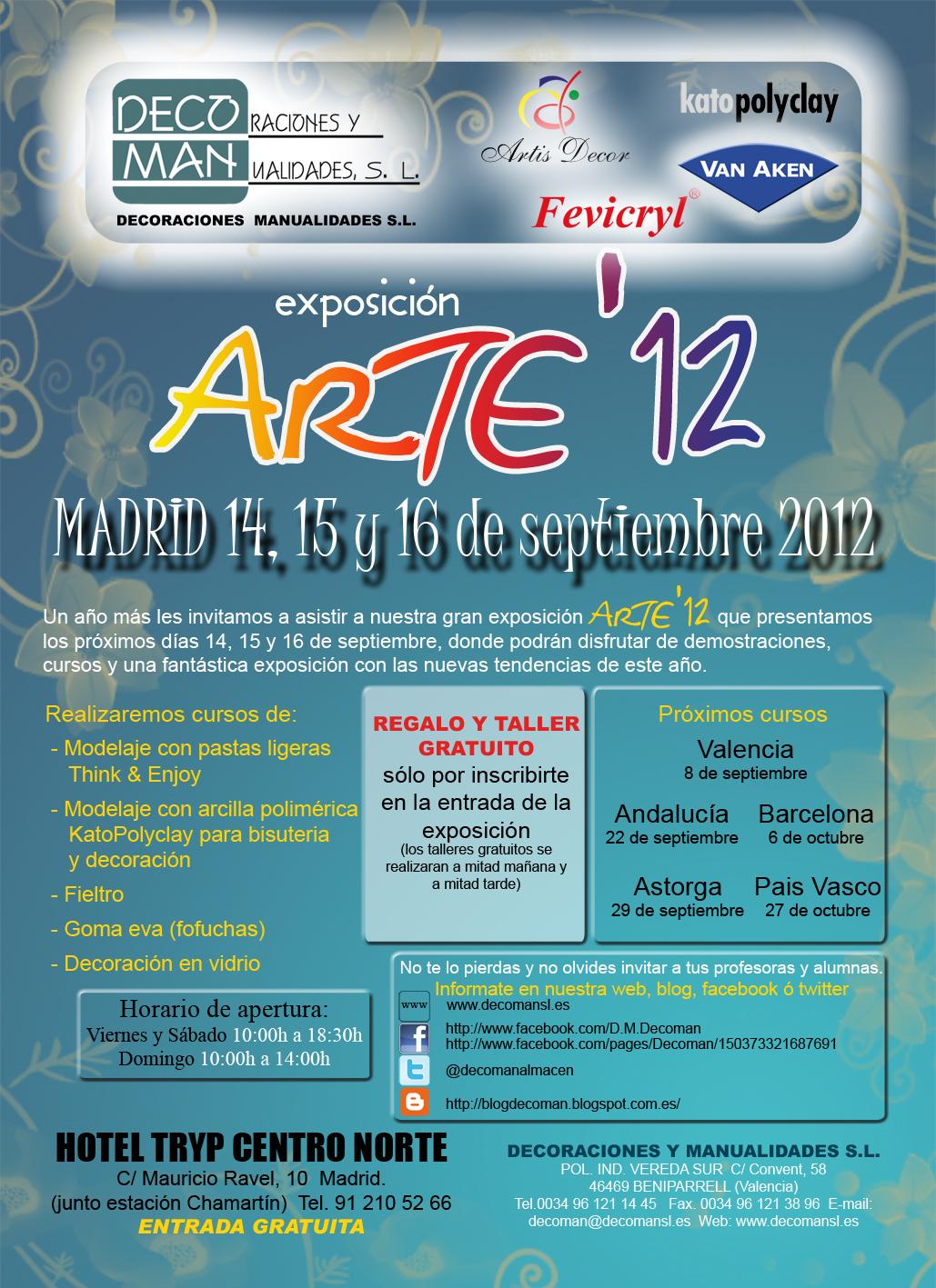 Blog Decoman Bellas Artes Y Manualidades Cursos Oto O 2012 ~ Cursos De Manualidades En Valencia