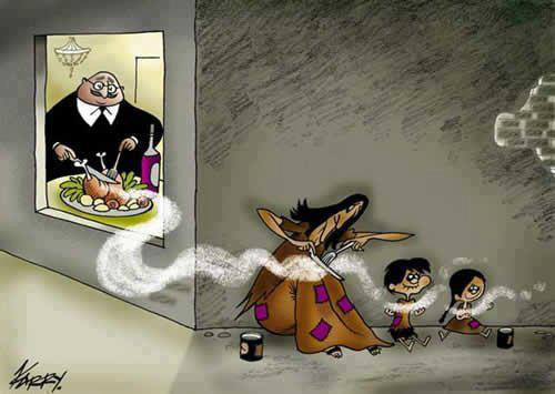 Rich Vs Poor ~ A silent message ~ sad image