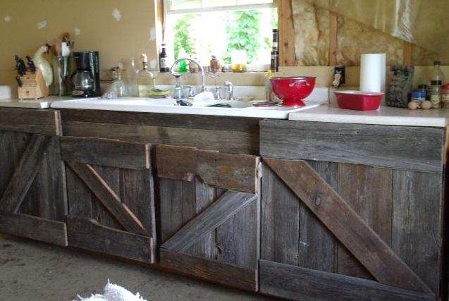 I made that myself barn wood kitchen cabinets for Barnwood kitchen cabinets