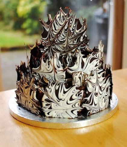 Украшение для торта из шоколада мастер класс