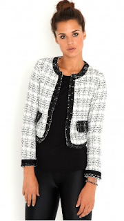 Calandra Stud Trim Tweed Jacket