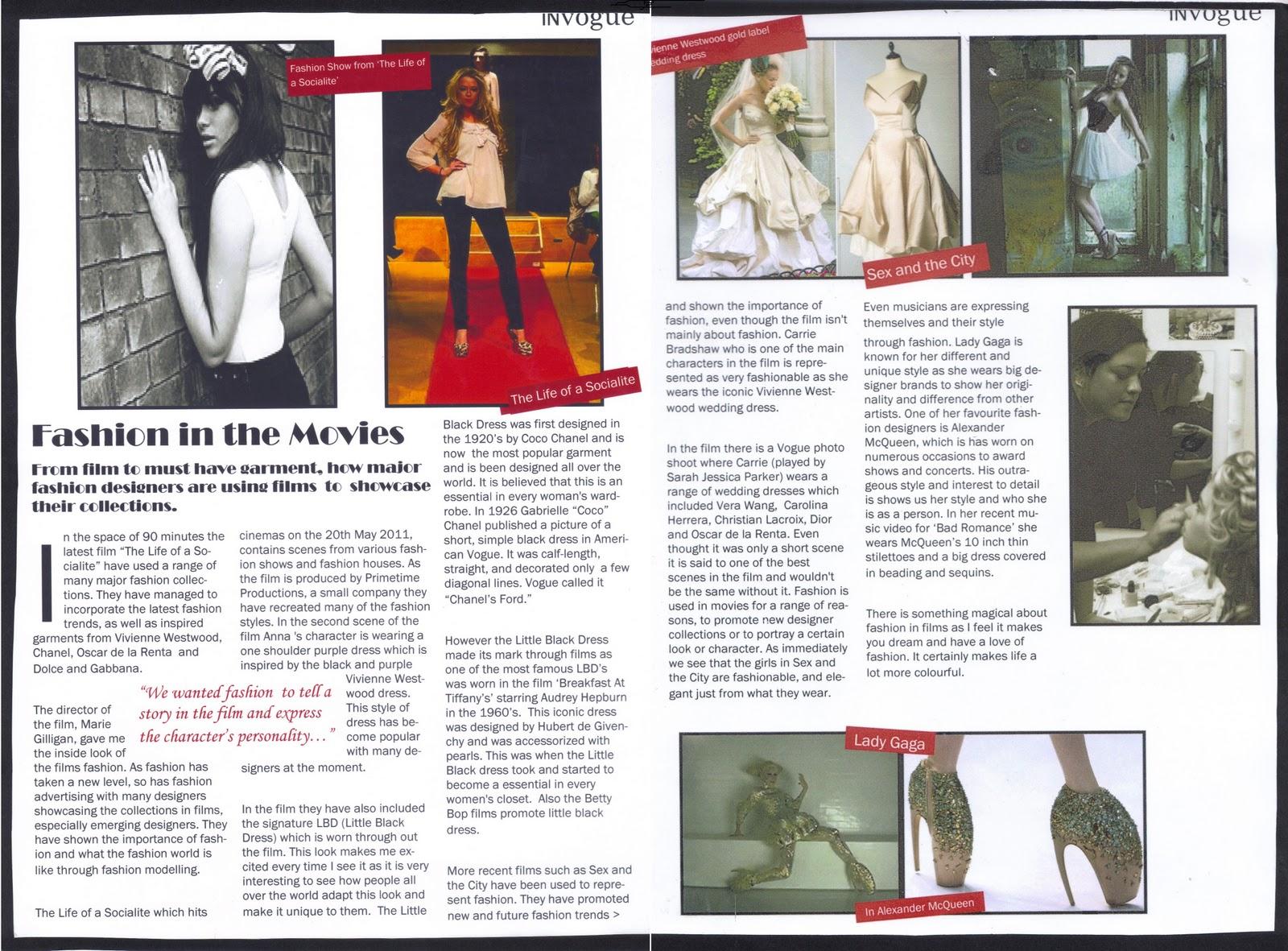 BA (Hons) Fashion Portfolio: Media: Vogue Magazine
