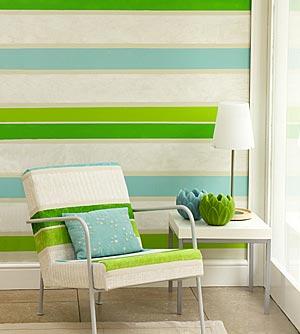Imbiancare casa idee idee per pareti a strisce - Pintar pared a rayas horizontales ...