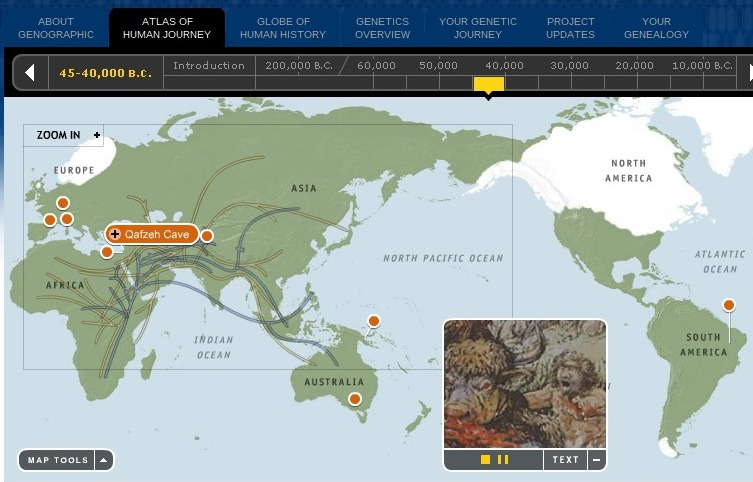 World history teachers blog early man migration video and map early man migration video and map gumiabroncs Image collections