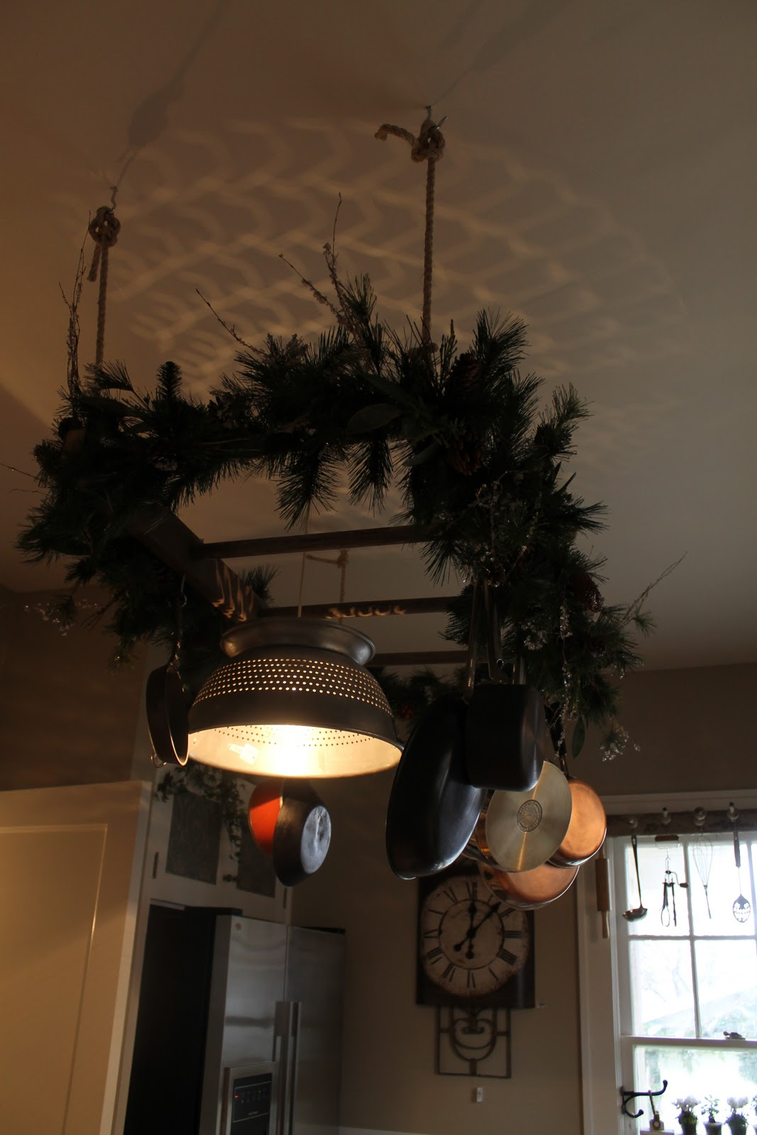 Pot Rack With Light Fixture
