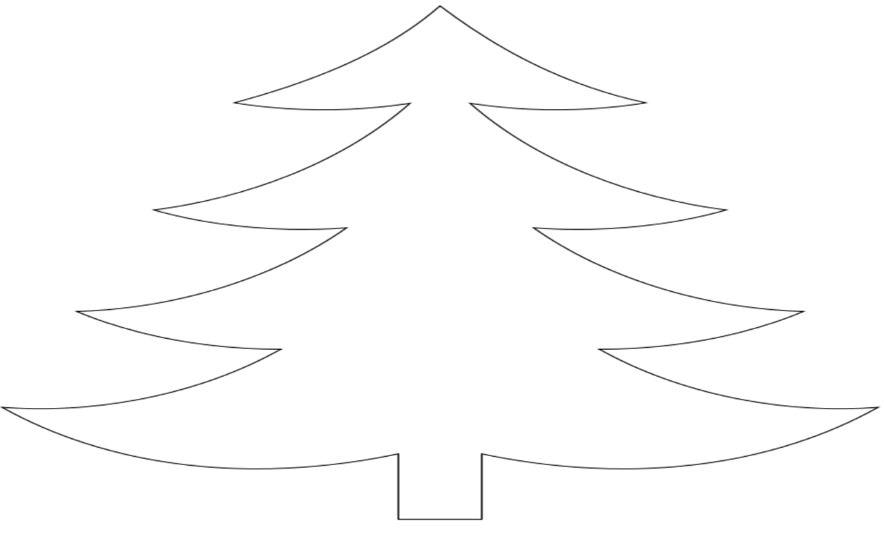 Christmas tree drawing outline - For A Stencil I Used This Basic Christmas Tree Outline I Found On The Web And Stretched It A Bit To Allow Room For The Tube In The Centre
