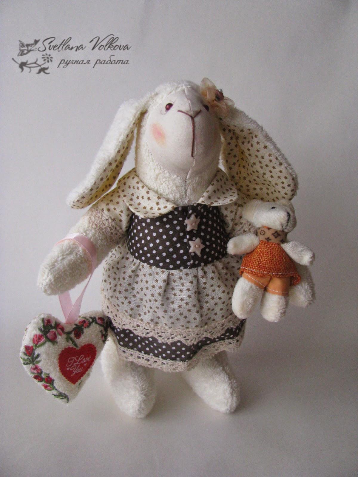 текстильная кукла, овечка