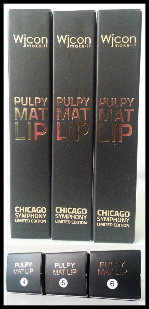 Wjcon - Chicago Symphony - Pulpy Mat Lip n° 4, n° 5 e n° 6