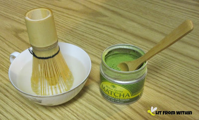 heating the MatchaDNA Bamboo Chasen (green tea whisk)
