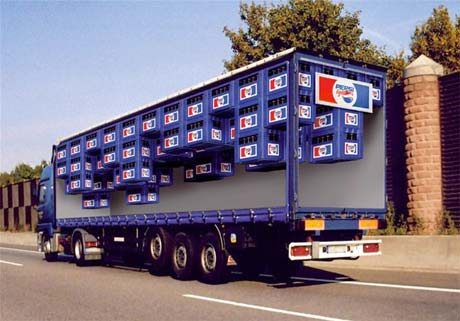 fotos de camiones curiosas publicidad anuncios pepsi al reves