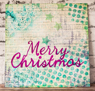 Merry Christmas Mixed Media Wall Hanging  featuring Stampin' Up! UK Supplies - check it out here
