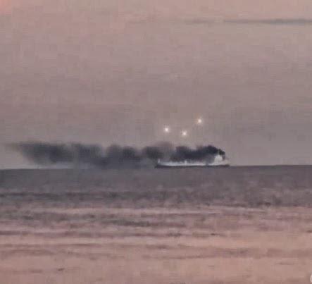 UFO Sighting Above Smoking Ship Causes Alarm