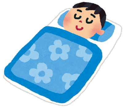 寝ているの男性のイラスト(睡眠)