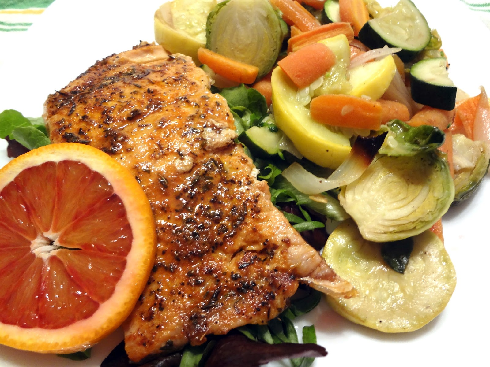 Attack of the Hungry Monster: Blackened Salmon with Blood Orange