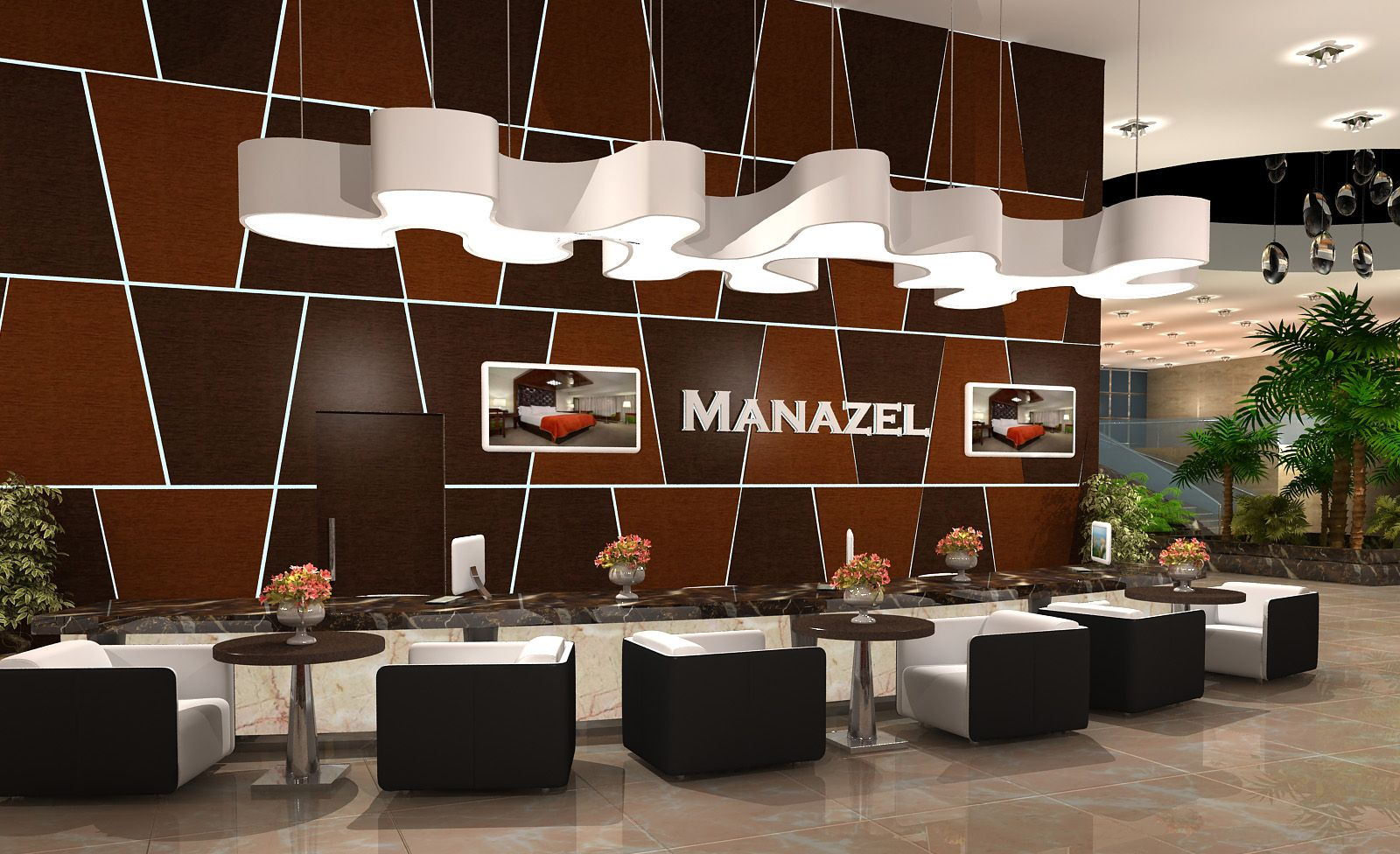 The first ferry manazil five star hotel lobby design for Modern hotel design