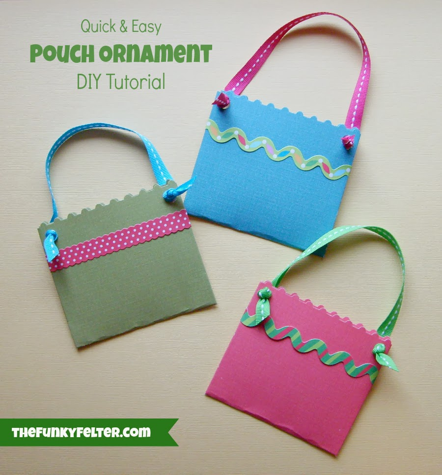 Paper Pouch Ornament DIY Tutorial