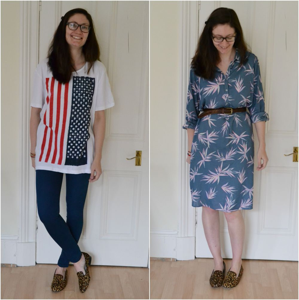 flag tshirt jeggings leopard shoes shirt dress print M&S H&M