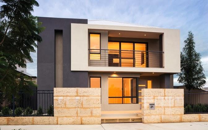 gambar desain rumah tingkat 2 lantai contoh disain rumah