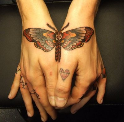 1990tattoos butterfly tattoos for girls for Female hand tattoos