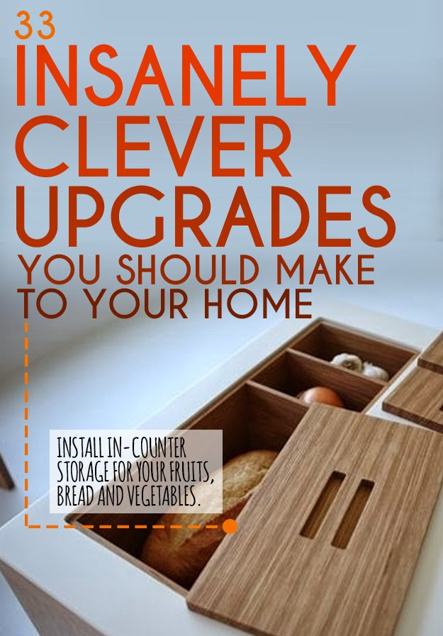 33 insanely clever upgrades to make to your home handy diy - Insanely easy clever diy projects home ...