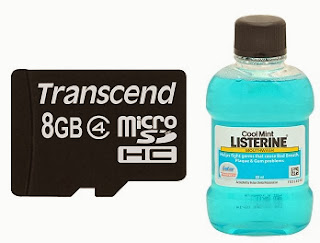 Transcend MicroSD Card 8GB Class 4 & Listerine Coolmint Mouthwash (80 Ml), All  for Rs.335 Only at Snapdeal