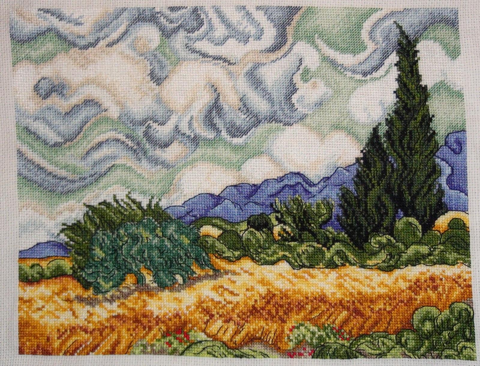 1088 Ван Гог «Звёздная ночь - Мир Вышивки 44