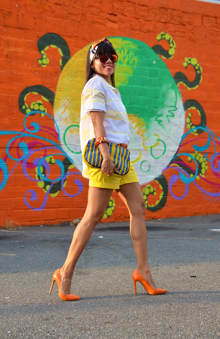 Yellow Shorts Street Style