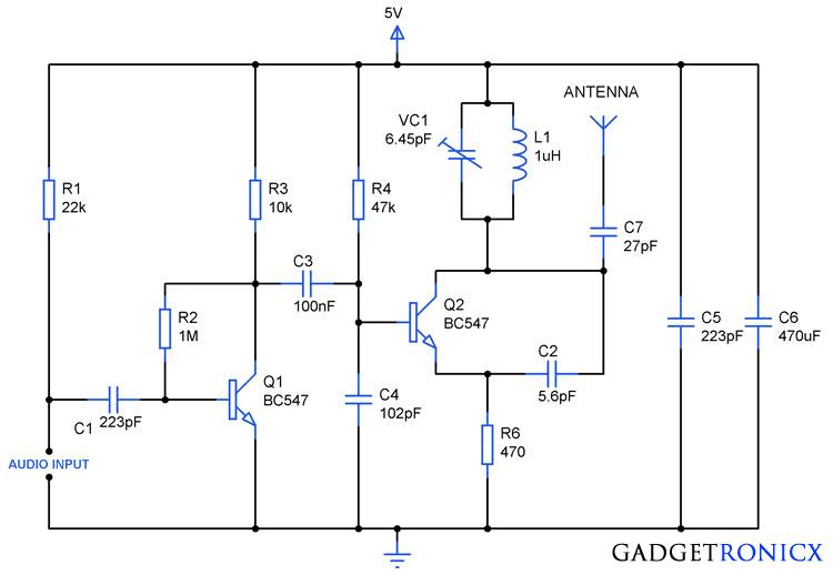 Fm transmitter circuit diagram png