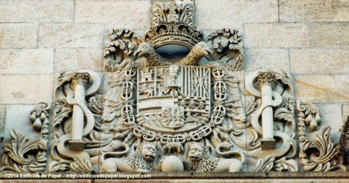 Escudo de España y Galicia