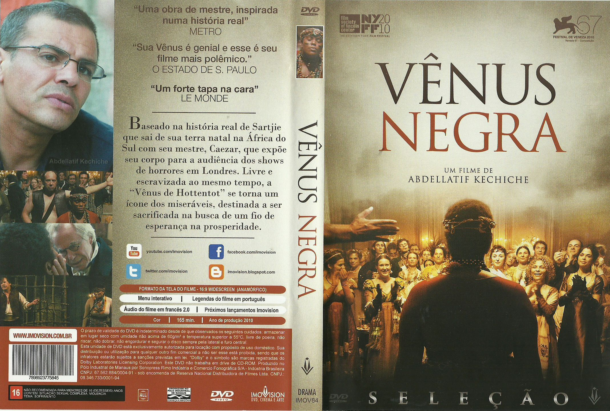 Capa DVD Vênus Negra