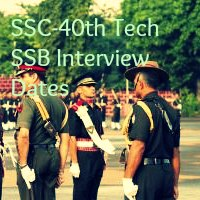 SSC-40th Tech SSB Interview Dates