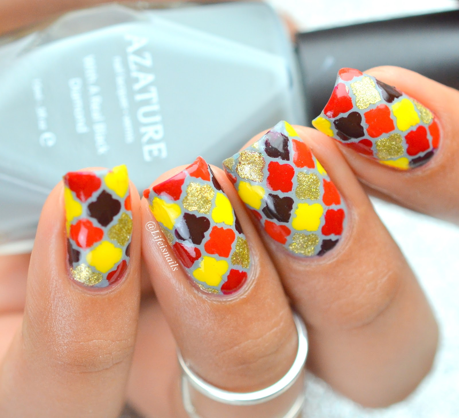 Fall Colors Inspired Morrocan Nail Art Lifeisnails