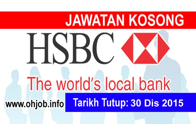 Jawatan Kerja Kosong HSBC Bank Malaysia Berhad logo www.ohjob.info disember 2015