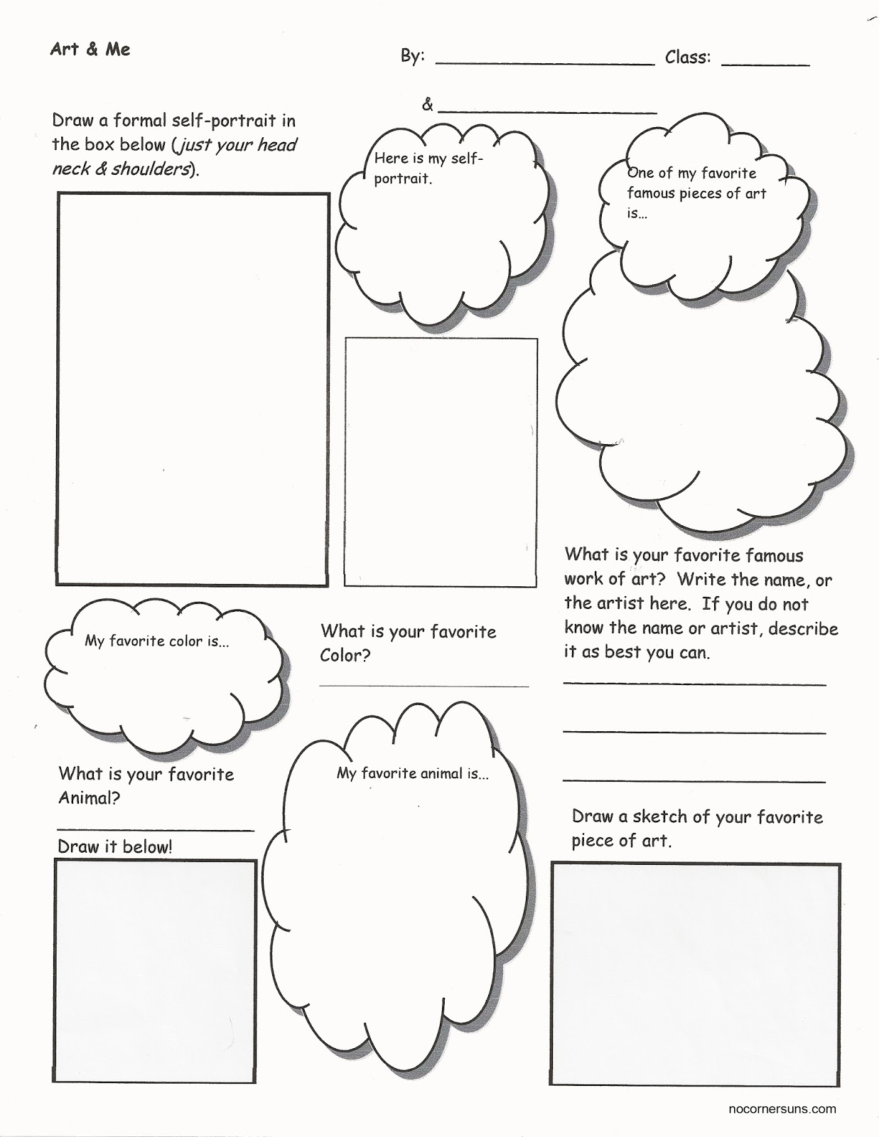 Displaying 19> Images For - All About Me Worksheet Color...