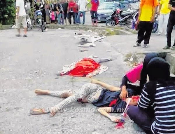 Pemandu pengsan, gadis maut, info, terkini,berita, nahas jalan raya, kemalangan jiwa