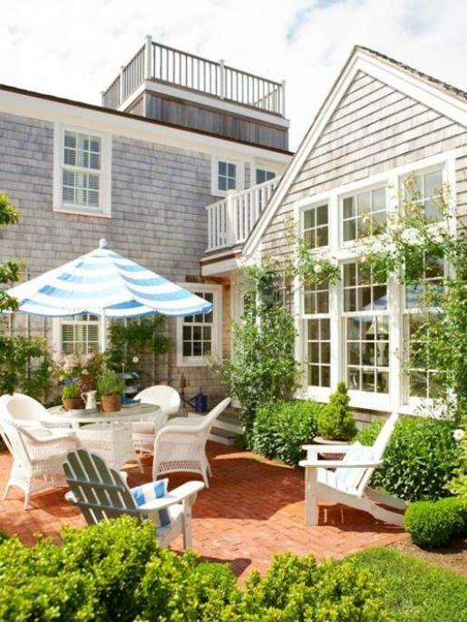 coastal style hamptons style outdoor living