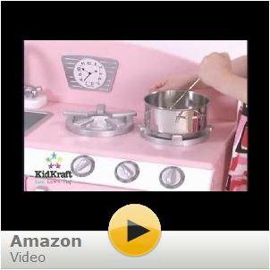 Kidkraft Pink Retro Kitchen Refrigerator - Kidkraft pink retro kitchen and refrigerator 53160