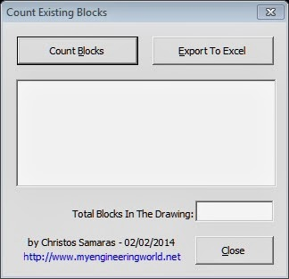 Counting Existing Blocks In AutoCAD (VBA Add-In)