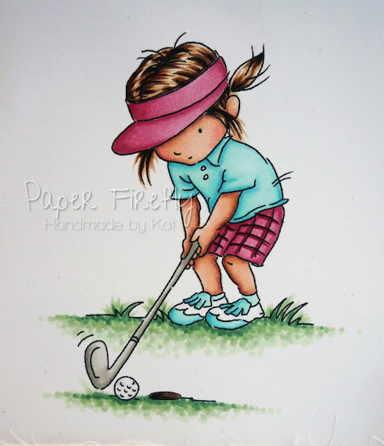 LOTV golfing girl in pastels