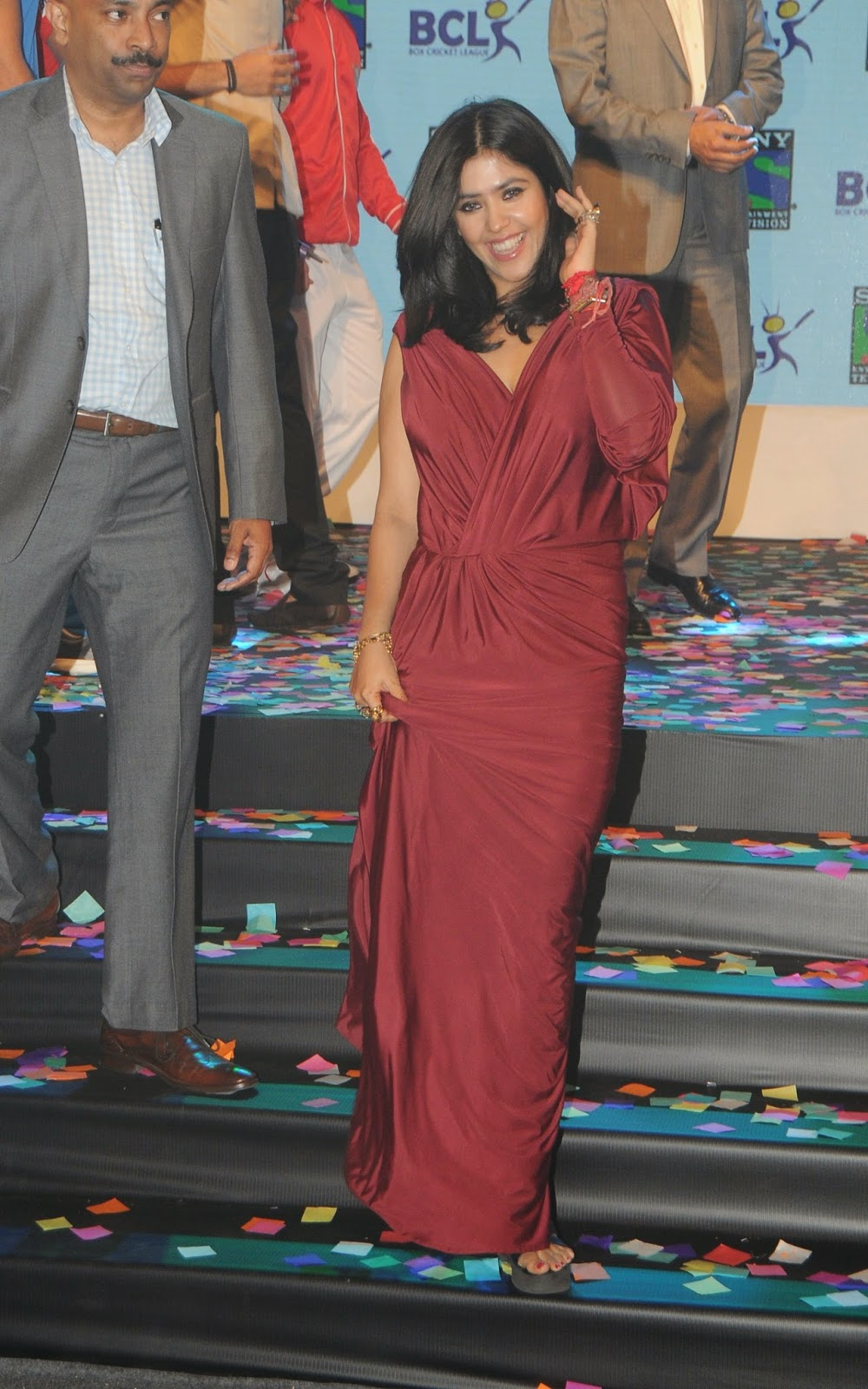 Ekta Kapoor Launch Box Cricket League Event Pics